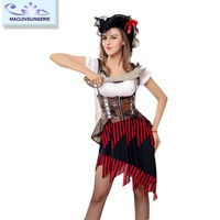 Maclove Fancy Design Halloween Ladies Sexy Pirate Costume For Party