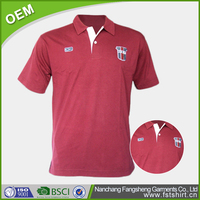 striped embroidered polo shirt OEM