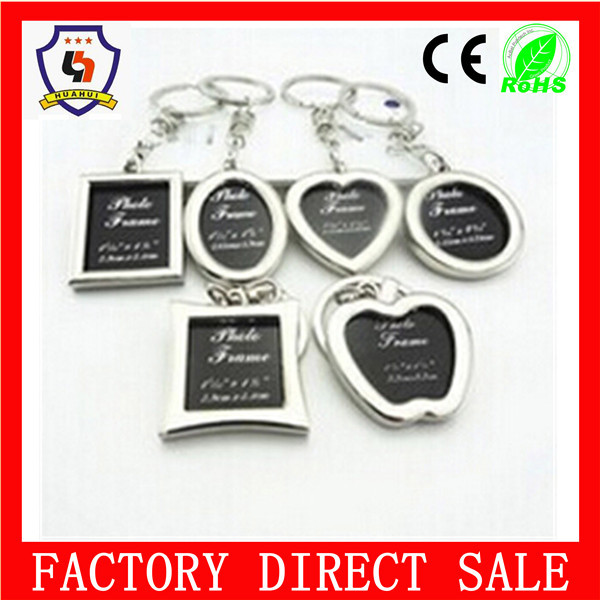 Hottest heart shape keyring and metal photo frame keychain (HH-keychain-1704)