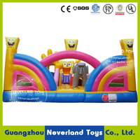 NEVERLAND TOYS Large Inflatable Fun City Funning Inflatable Amusement Park SpongeBob Fun city for Kids Hot Sale