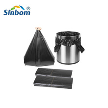 Sinbom Black Plastic Garbage bag HDPE can liner Biodegradable Garbage Bags