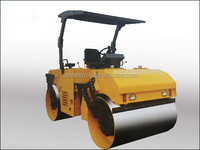 vibrating 3 ton fully hydraulic double drum road roller