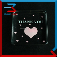 rounded corner Square crystal paperweight wedding thank you gifts