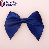 Wholesale Cheapest Packaging Gift satin Ribbon Blue Small Gift Bow