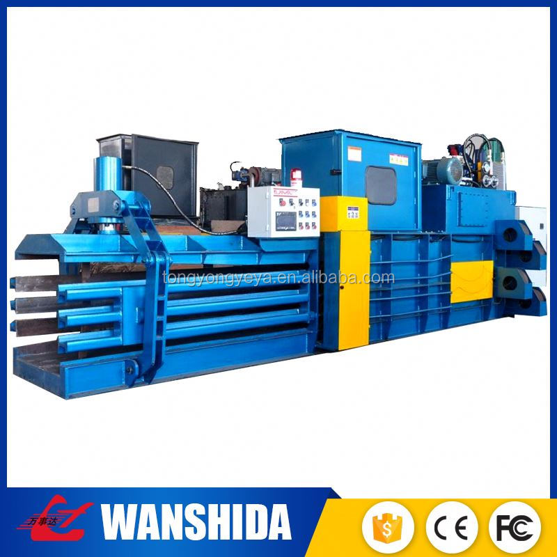 China Industry-leading Manafacture Automatic Horizontal corrugated board baler machine