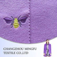 Beautiful Dyed Hand dobby bee Pattern Woolen Crewel Embroidery Fabric, jacquard wool fabric, for women cloth and upholstery