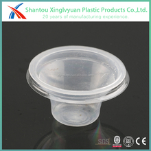 New shape clear plastic jelly pudding cup with lid