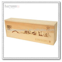Cheap pine wood wine box for wine packing