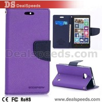 Goospery Fancy Diary Series Flip Stand TPU+ PU Mercury Leather Case for Nokia Lumia 930 - Purple