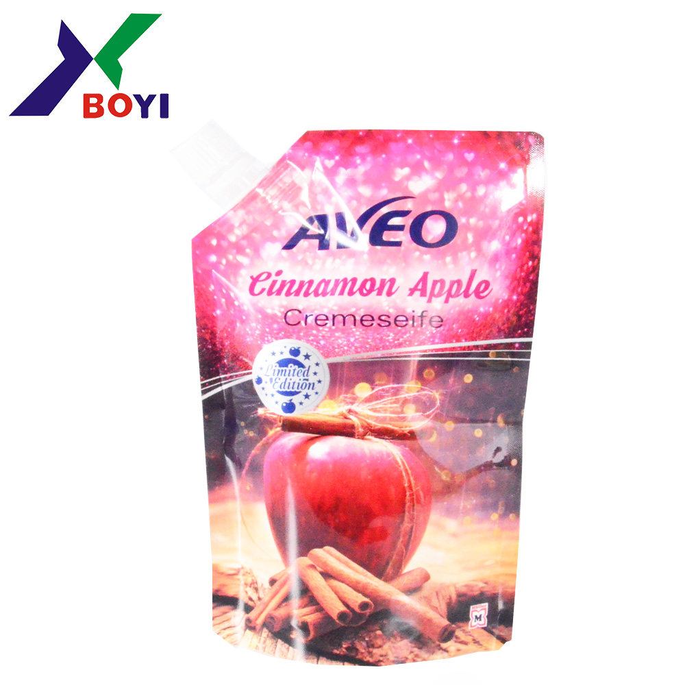 Wholesales Custom Printing Fruite Juice Packaging Liquid Spout Pouch Bag