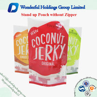 beef jerky packaging bag food grade laminated stand up pouch plastic bags wholesale
