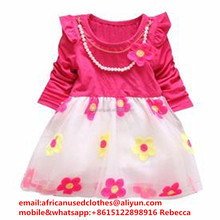 used clothing lots / used clothing /used clothing baled used clothes, baby Princess Dress, wholesale used clothing to zambia
