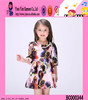 2016 flowers baby children latest fashion dress designs hot sale girls picture of children casual dress