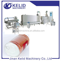 Full Automatic Twin screw extruder puffed fish feed machine