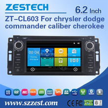 For chrysler dodge commander caliber cherokee touch screen car dvd support Am / Fm radios audio multimidea player BT Phone book