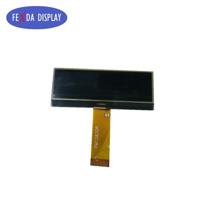 Custom Transparent Negative Display Screen 128*34 COG ST7567 Graphic FSTN Display