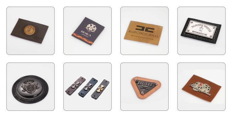 Custom Leather Clothing Soldier LOGO Leather Luggage Label Leather Patches