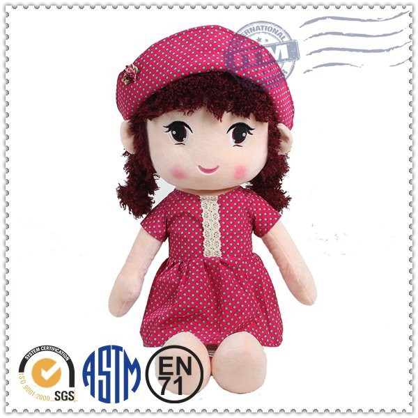 Doll manufacturer cute top quality hot selling toys top hat doll