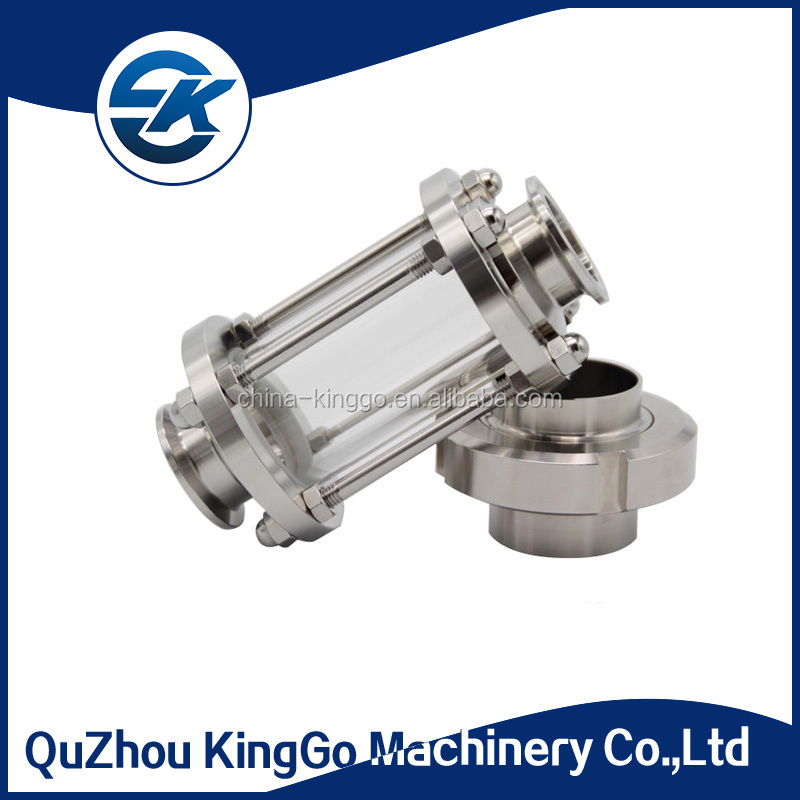 Dairy industry stainless steel SS304 threaded sanitary sight glass