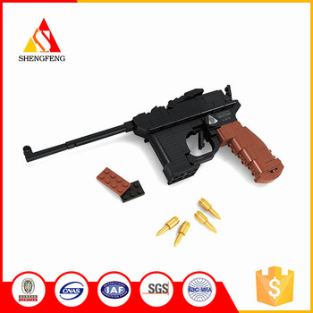 Chenghai hot sales toy gun mauser pistol building blocks