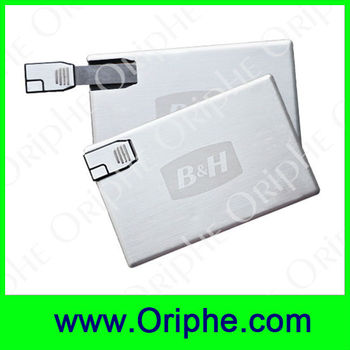 Metal,Card USB,Sliding,Business USB,Gift USB Flash Drive(UDC0160)