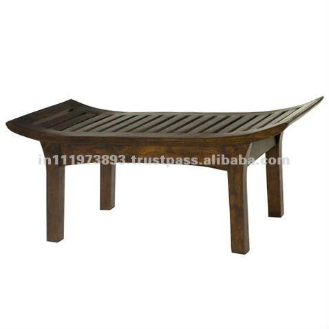 wooden bench mango wood with antique finish
