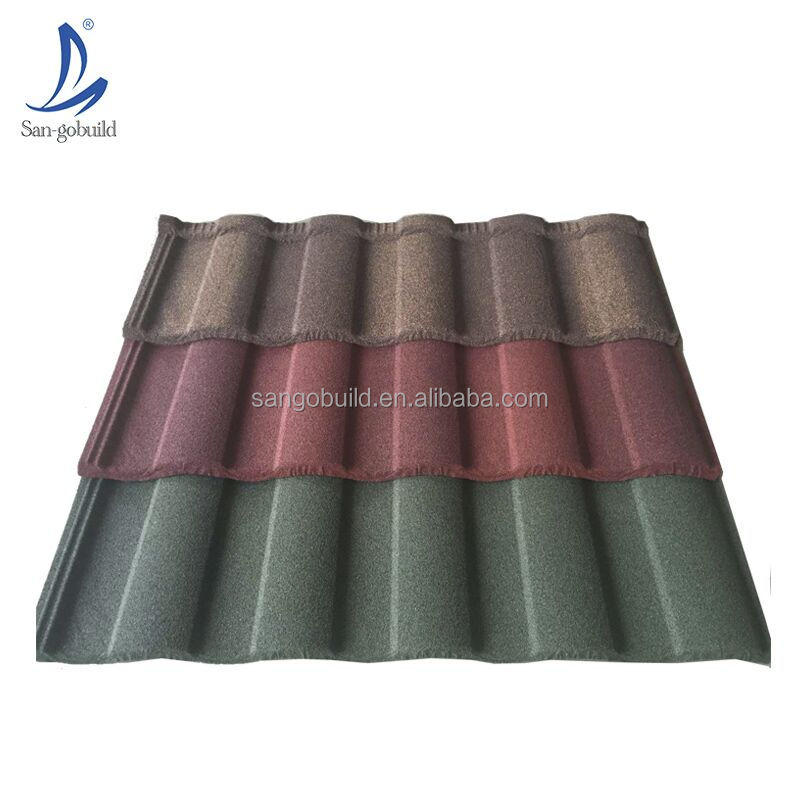 Aluminium ZInc Building Material Sheet, Flat Roman Stone Coated Roofing Sheet, Guangzhou Shingle Tile Metal Roofing Tiles