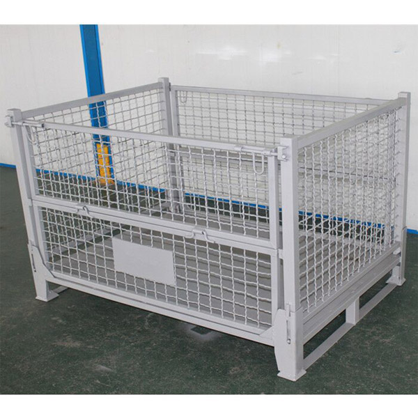 Industrial wire container warehouse material handling mesh security cage