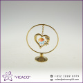 High Quality 24K gold plated heart ornaments for wedding gifts