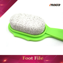 Oval rough pumice stone for callus remover foot scrub sone foot file for foot cleaning with assorted colored handle