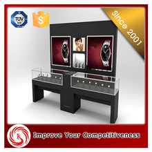 Fashionable watch shop decoration wooden watch display stand