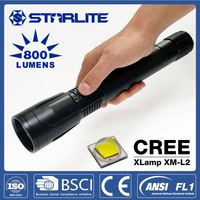 Long Lifetime cree xm-l2 u2 led strong light flashlight