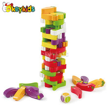 wholesale creative vegetable baby wooden stacking blocks top fashion kids wooden stacking blocks W13D078