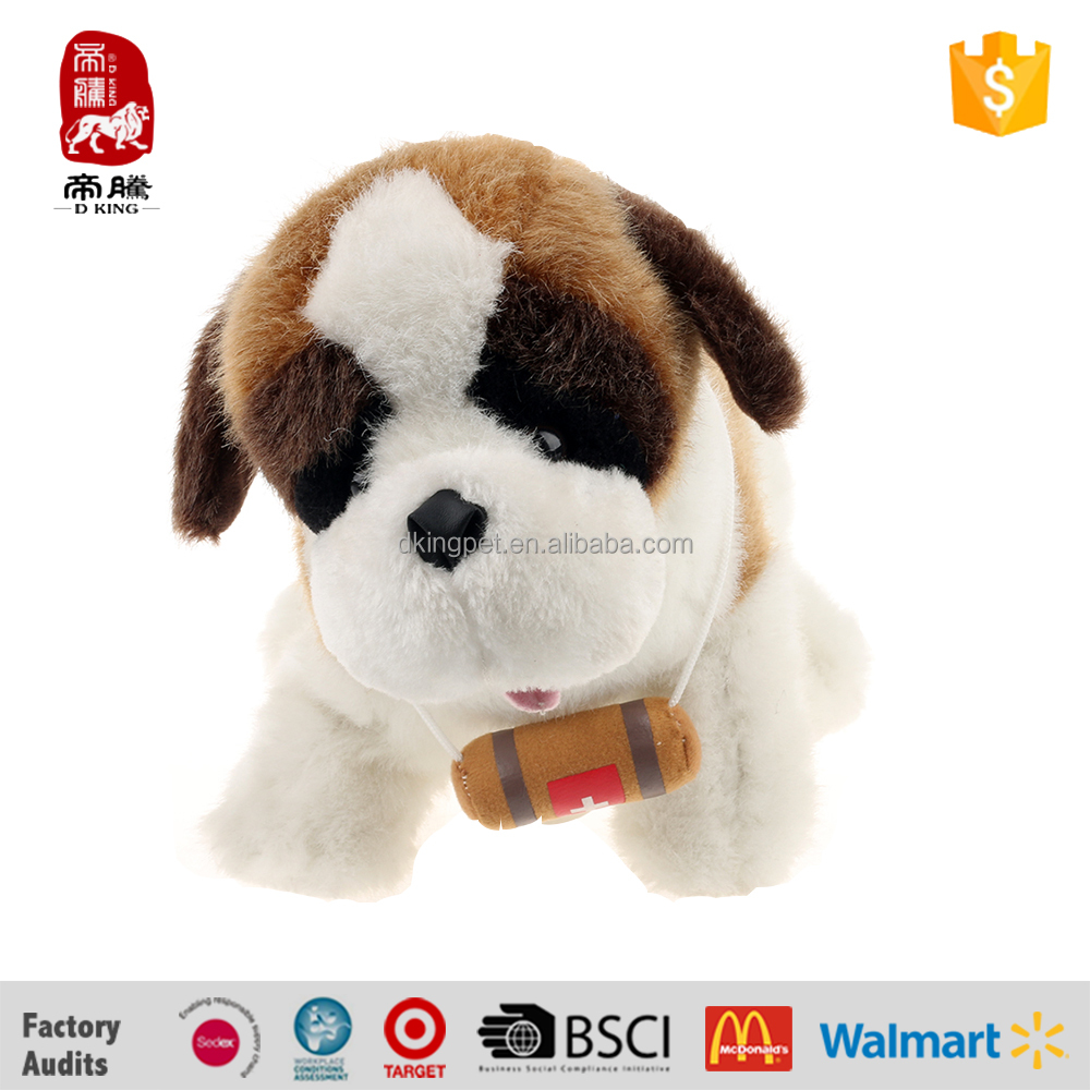 Factory most popular battery operate singing plush animal dog toy