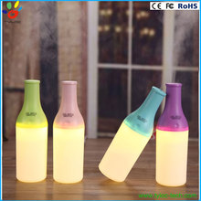 Ultrasonic mini bottle humidifier with candle light