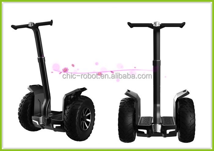 CHIC-CROSS electric big wheel with handle scooter