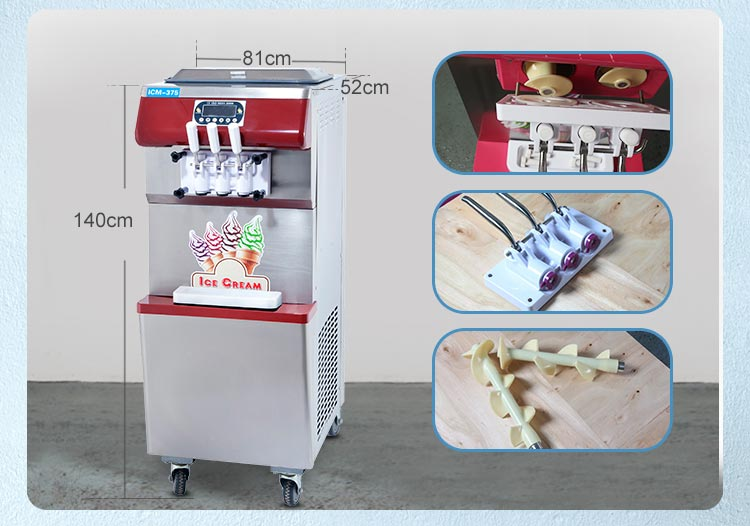 Commercial use hard ice cream machine batch freezer