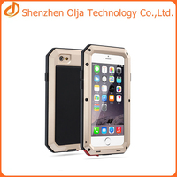 Cell phone case wholesale gorilla glass metal waterproof case for iphone 7,Hybrid case