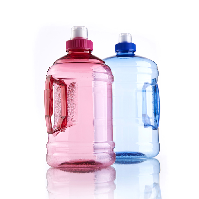 1L big bottle sport plastic bottle water bottle with straw