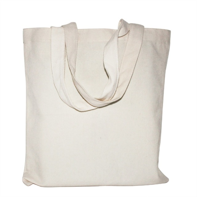 White /Black 2 Color Canvas Shopping Bag Foldable Reusable Grocery Bags Cotton Fabirc Eco Tote Bag Wholesale
