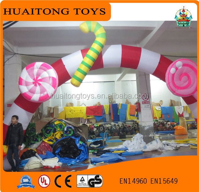 huaitongtoys Round shape inflatable archway with flower/ inflatable arch for advertisement for sale