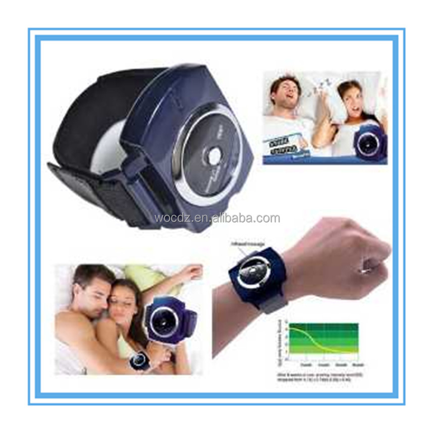 SNORE STOPPER! Digital Therapy Machine Anti-Snoring Wristband Strap