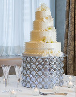 Custom made silver cake stand , wedding cake stand for wholesale