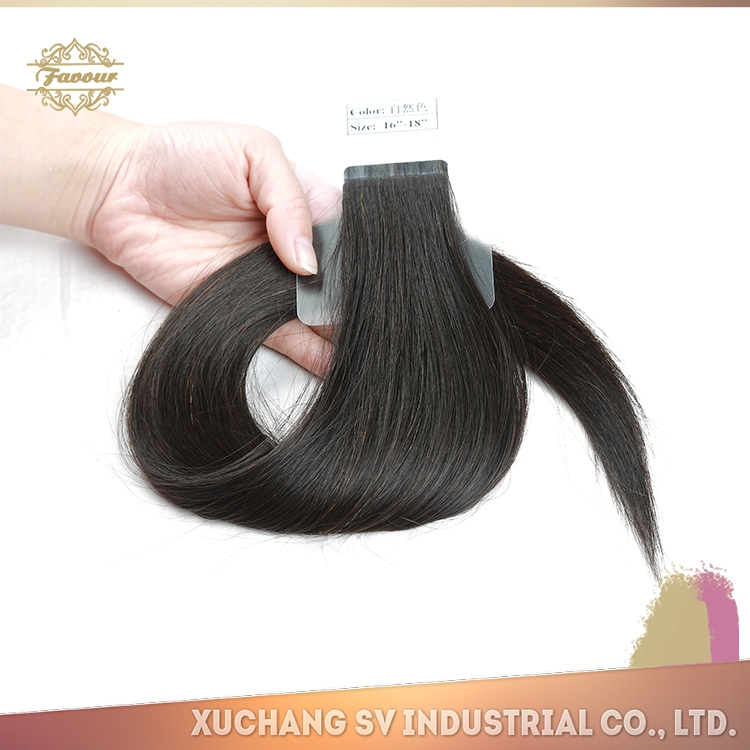 Most Fashionbale Soft Texture Super Quality Russian Hair Weave, Tangle and Shedding Free Russian Tape Hair Extension