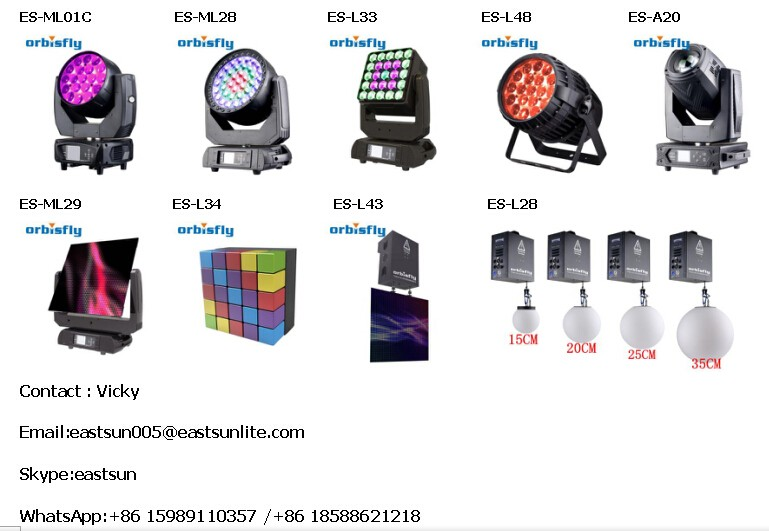 Professional Stage Light RGB Colorful DMX LED Lift Ball Orbisfly Kinetic lighting