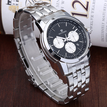 Ouyawei 006 Stainless steel chain black color advertising mechanical wrist watch
