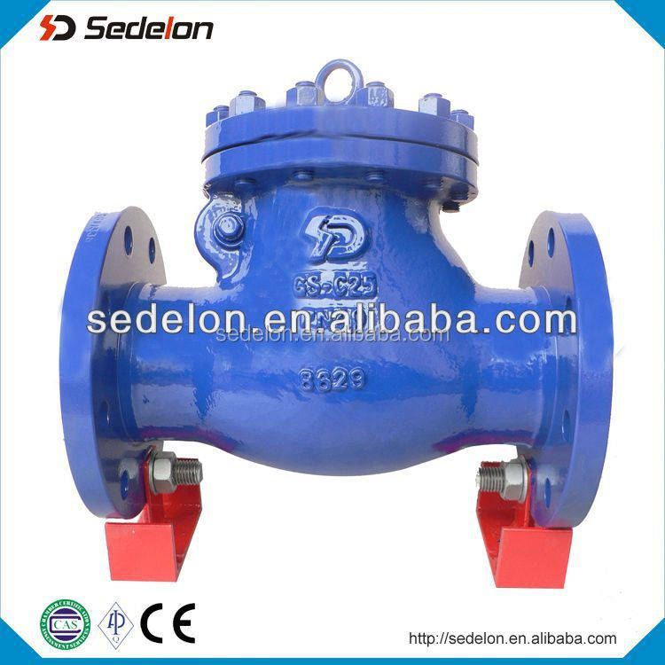 DIN Standard Low Alloy Cast Steel GS-C25 Flange Swing Check Valve