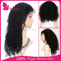 Tangle Free Best Brazilian natural Human Hair Full Lace Wig Free Wig Catalogs