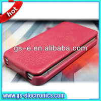 Hot selling novetly geninue leather case for iphone 4/4S