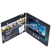 China Factory Cheap Price Custom Gift Greeting Cards 7 Inch Lcd Video Brochure